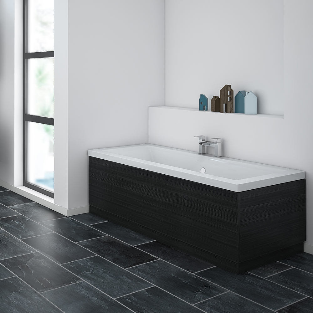 Brooklyn Black Bath Panel Wood Effect Various Sizes