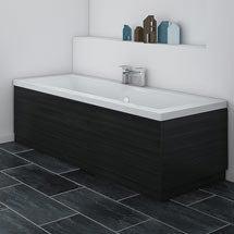 Brooklyn Black Wood Effect Bath Panel - Various Sizes Medium Image