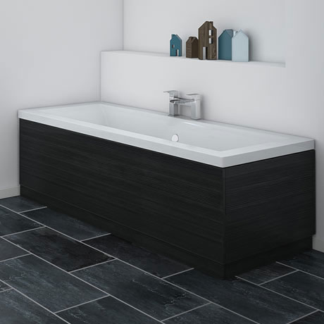 Brooklyn Black Wood Effect Bath Panel - Various Sizes