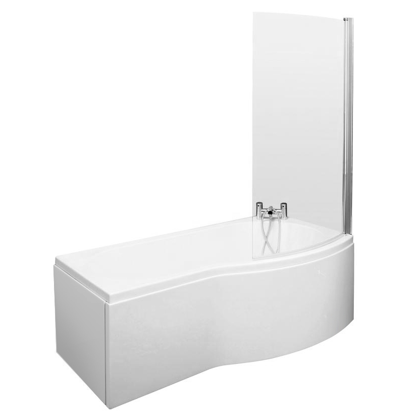 Brooklyn Brown Avola Bathroom Suite + B-Shaped Bath profile large image view 2