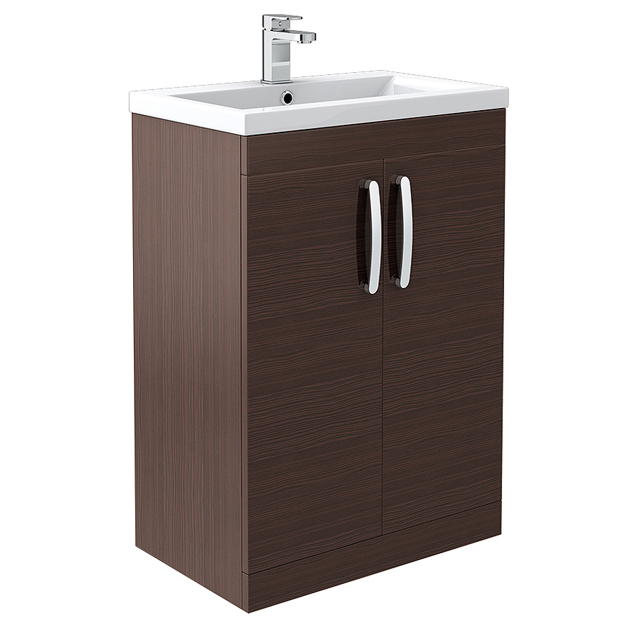 Brooklyn Brown Avola Bathroom Suite + B-Shaped Bath  Standard Large Image