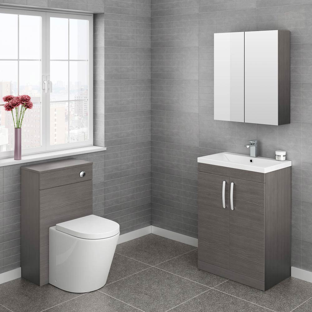 Brooklyn cloakroom suite grey avola finish victorian for Small wc design