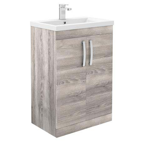 Brooklyn Driftwood Vanity Unit - Floor Standing 2 Door Unit 600mm