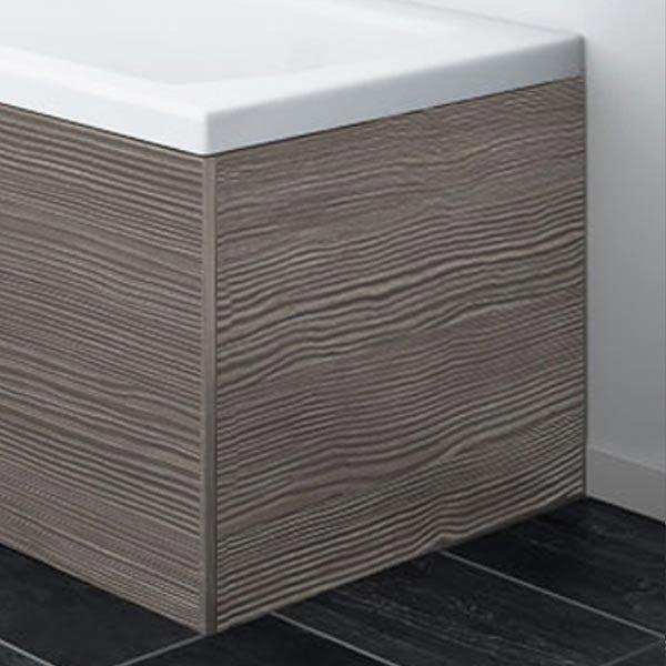 Brooklyn Grey Avola  MDF End Bath Panel for 1700mm L-Shaped Baths - MPD531 Large Image