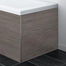 Brooklyn Grey Avola  MDF End Bath Panel for 1700mm L-Shaped Baths - MPD531 Medium Image