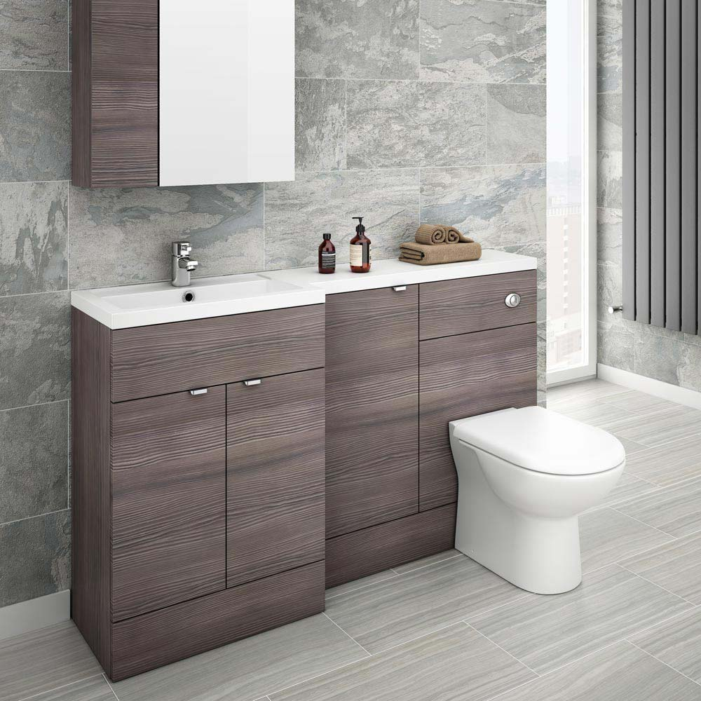 Grey Bathroom Furniture Uk: Brooklyn Grey Avola Combination Furniture Pack