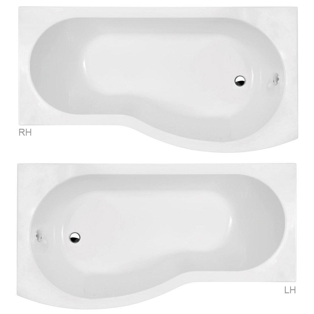 Brooklyn Grey Avola Bathroom Suite + B-Shaped Bath profile large image view 2