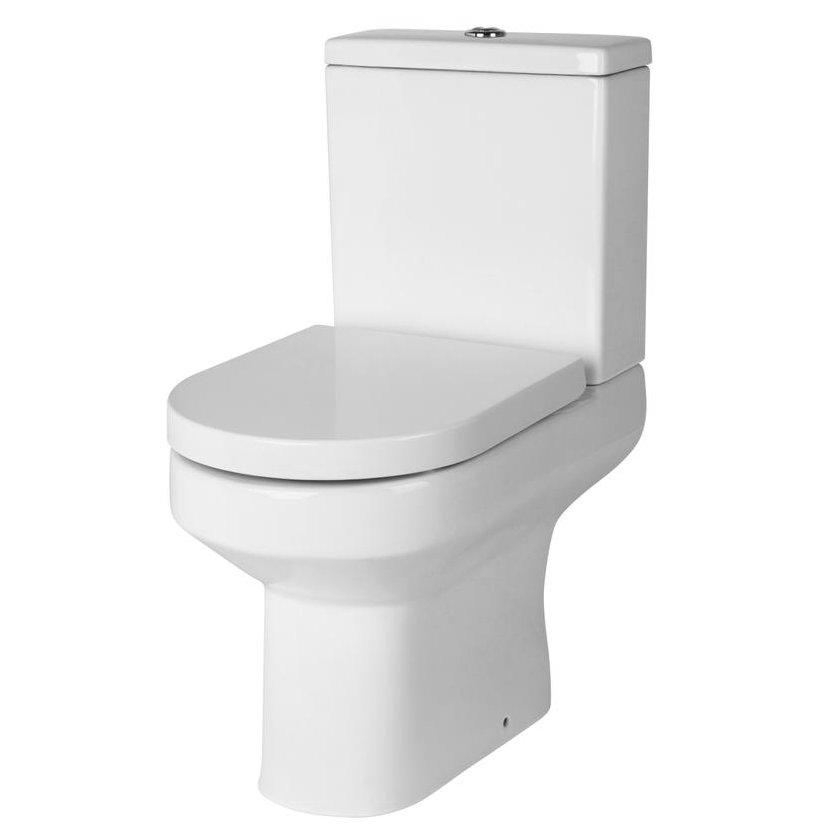 Brooklyn Grey Avola Bathroom Suite + B-Shaped Bath profile large image view 3