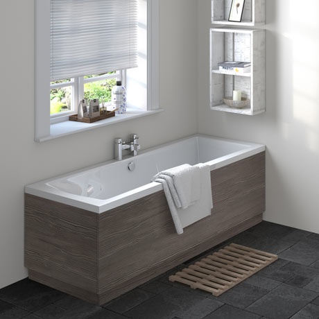 Brooklyn Grey Avola Double Ended Bath