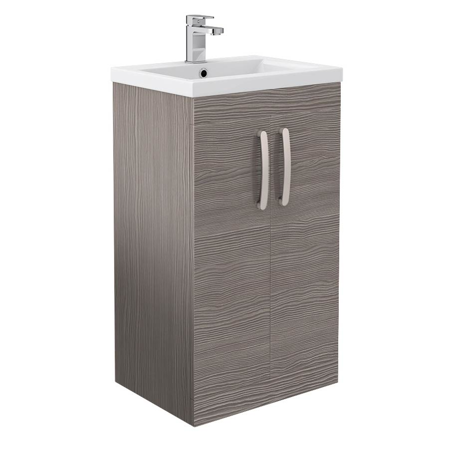 Brooklyn 500mm Grey Avola Vanity Unit - Floor Standing 2 Door Unit profile large image view 1