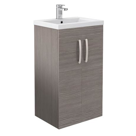 Brooklyn Grey Avola Vanity Unit - Floor Standing 2 Door Unit 500mm
