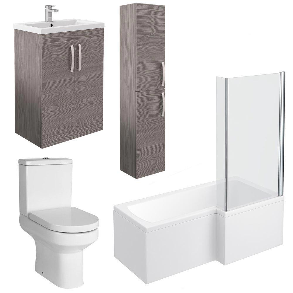 Brooklyn Grey Avola Tallboy Suite  In Bathroom Large Image
