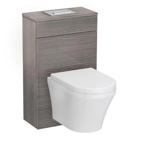 Brooklyn Grey Avola WC Unit Inc. Cistern Frame, Flush Plate + Wall Hung Pan