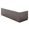Brooklyn Grey Avola Wood Effect Bath Panel Pack profile small image view 1