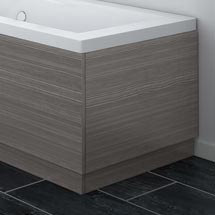 Brooklyn Grey Avola Wood Effect End Bath Panels - Various Sizes Medium Image