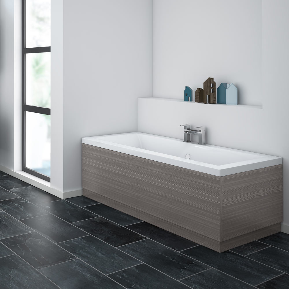 Brooklyn Grey Avola Wood Effect Bath Panel - Various Sizes Large Image
