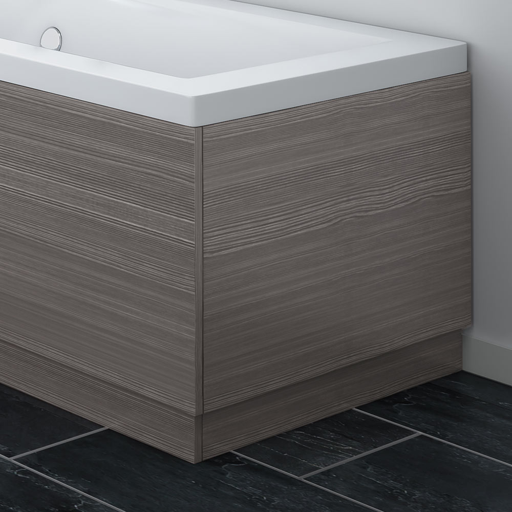 Brooklyn Grey Avola Wood Effect End Bath Panels - Various Sizes Large Image