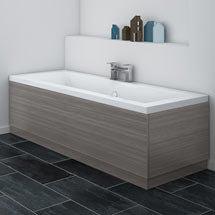 Brooklyn Grey Avola Wood Effect Bath Panel - Various Sizes Medium Image