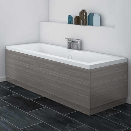 Brooklyn Grey Avola Wood Effect Bath Panel - Various Sizes