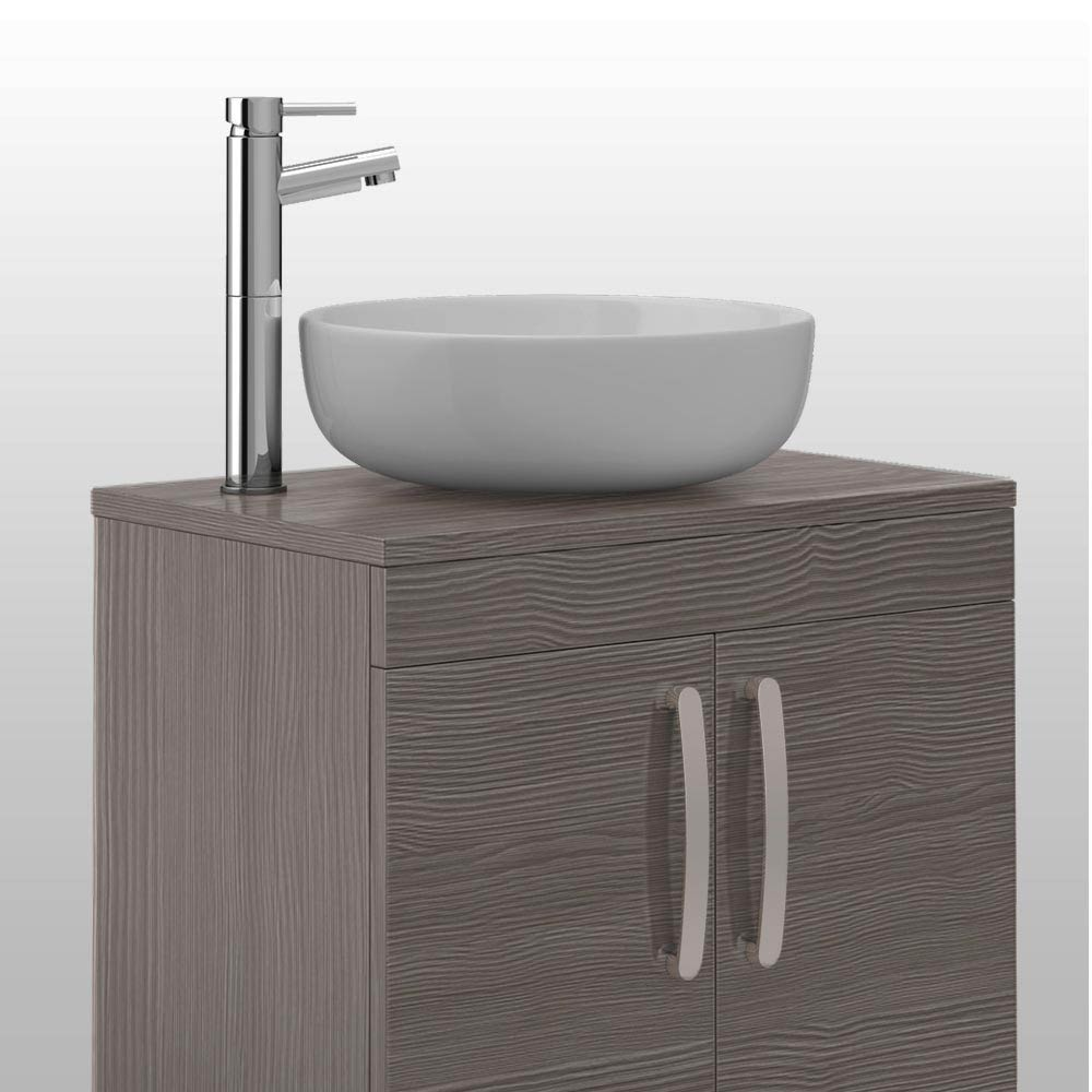 Brooklyn Grey Avola Worktop & Double Door Floor Standing Cabinet - 505mm Profile Large Image