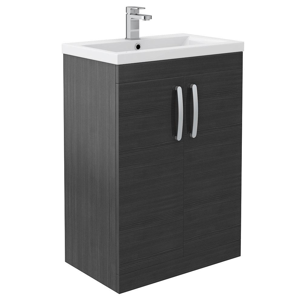 Brooklyn Hacienda Black Bathroom Suite with L-Shaped Bath Profile Large Image