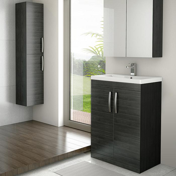 Brooklyn Hacienda Black Vanity with Tall Cabinet Suite Profile Large Image