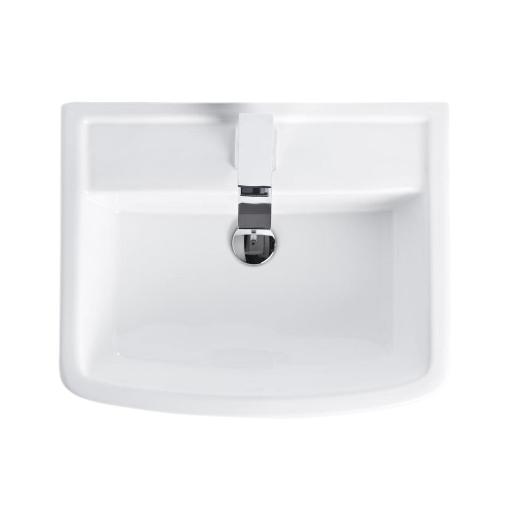 Brooklyn Modern Square Basin + Pedestal - 1 Tap Hole profile large image view 4