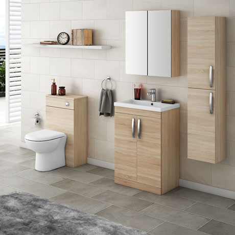 Brooklyn Natural Oak Floor Standing Vanity Furniture Package