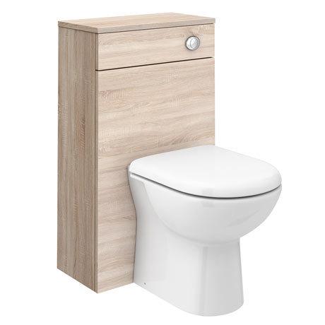 Brooklyn Natural Oak WC Unit + Cistern (500mm Wide)