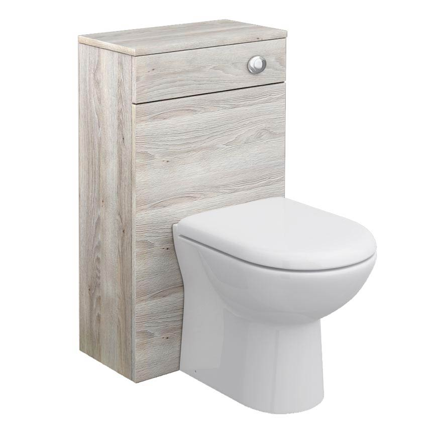 Brooklyn WC Unit with Cistern - Driftwood - 500mm profile large image view 1