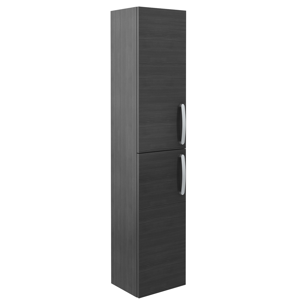 Brooklyn Wall Hung 2 Door Tall Storage Cabinet - Hacienda Black Large ...