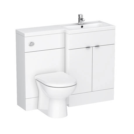 Brooklyn White Gloss Combination Furniture Pack - 1100mm Wide