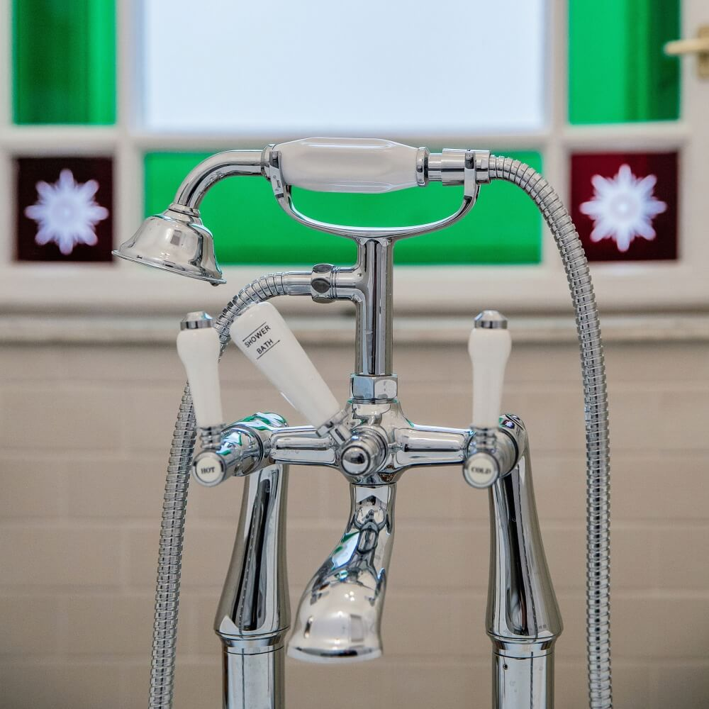 Lancaster Traditional Freestanding Bath Mixer and Shower Kit - Budapest Bathroom Project