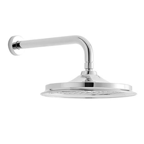 "Burlington 12"" Shower Rose + Straight Wall Mounted Arm"