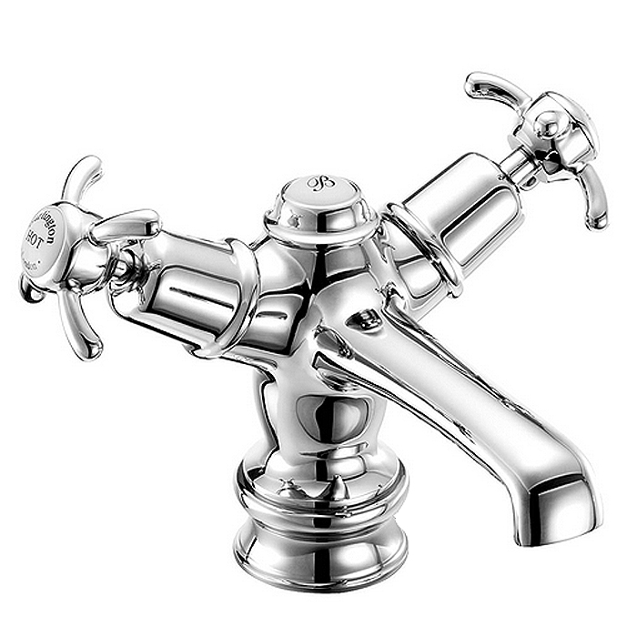 Burlington Anglesey Regent Basin Mixer Tap with Click Clack Waste - ANR6 profile large image view 3
