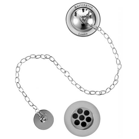 Burlington Bath Overflow with Plug & Chain Waste - W3