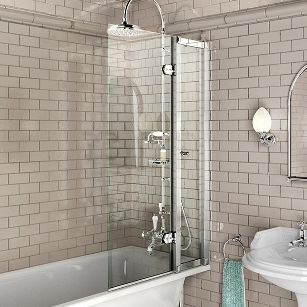 Burlington Bath Screen with Access Panel - 850 x 1450mm - BU44 Large Image
