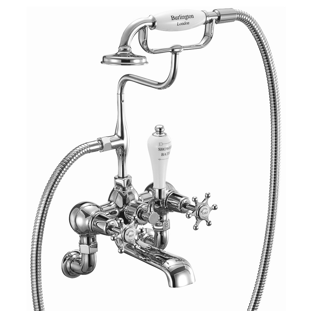 Burlington - Birkenhead Wall Mounted Bath/Shower Mixer - BI17 Large Image