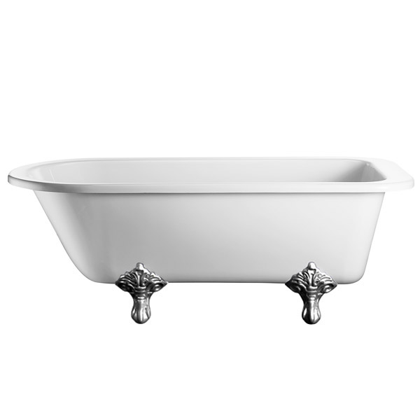 Burlington - Blenheim Single Ended 1700mm Freestanding Bath with Legs In Bathroom Large Image