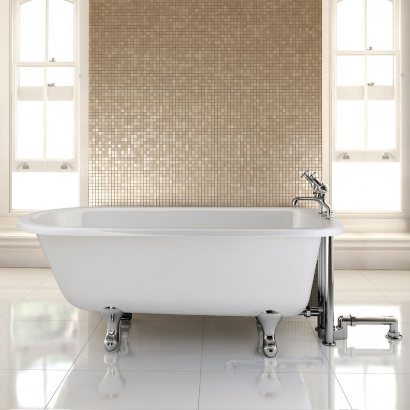 Burlington - Blenheim Single Ended 1700mm Freestanding Bath with Legs Large Image