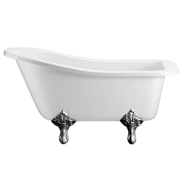Burlington Buckingham Slipper 1500mm Freestanding Bath with Legs profile large image view 5