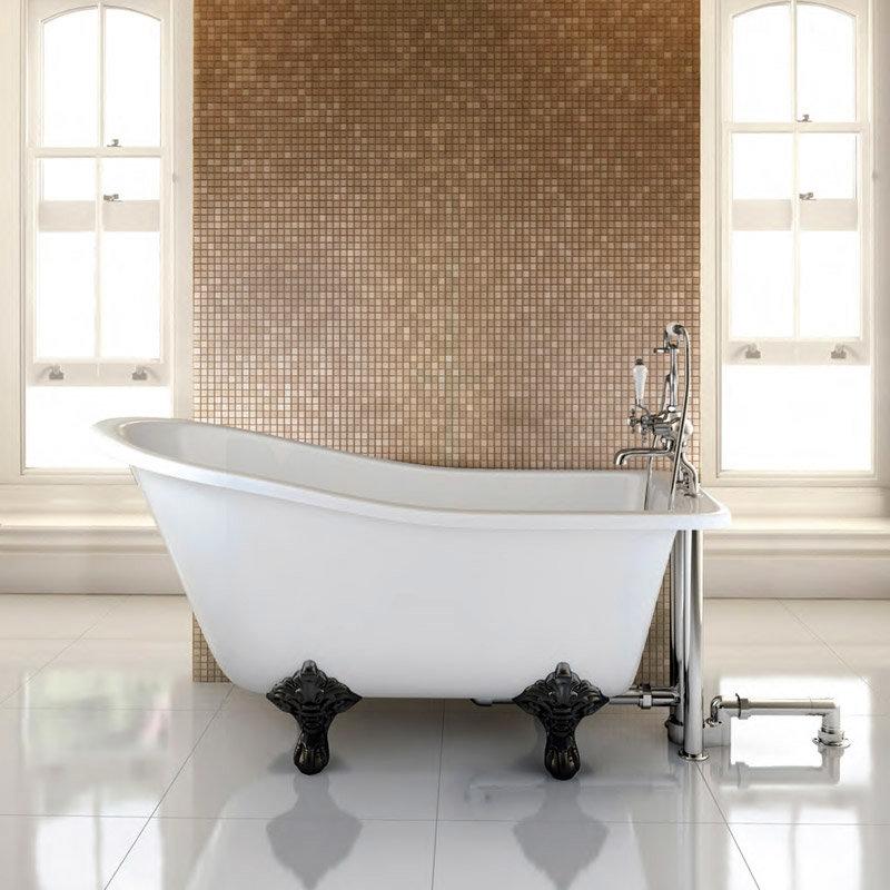 Burlington - Buckingham Slipper 1500mm Freestanding Bath with Legs Large Image