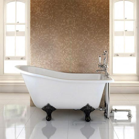 Burlington - Buckingham Slipper 1500mm Freestanding Bath with Legs