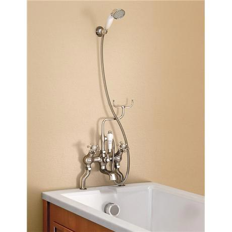 Burlington Claremont Angled Bath Shower Mixer with Shower Hook - H228-CL