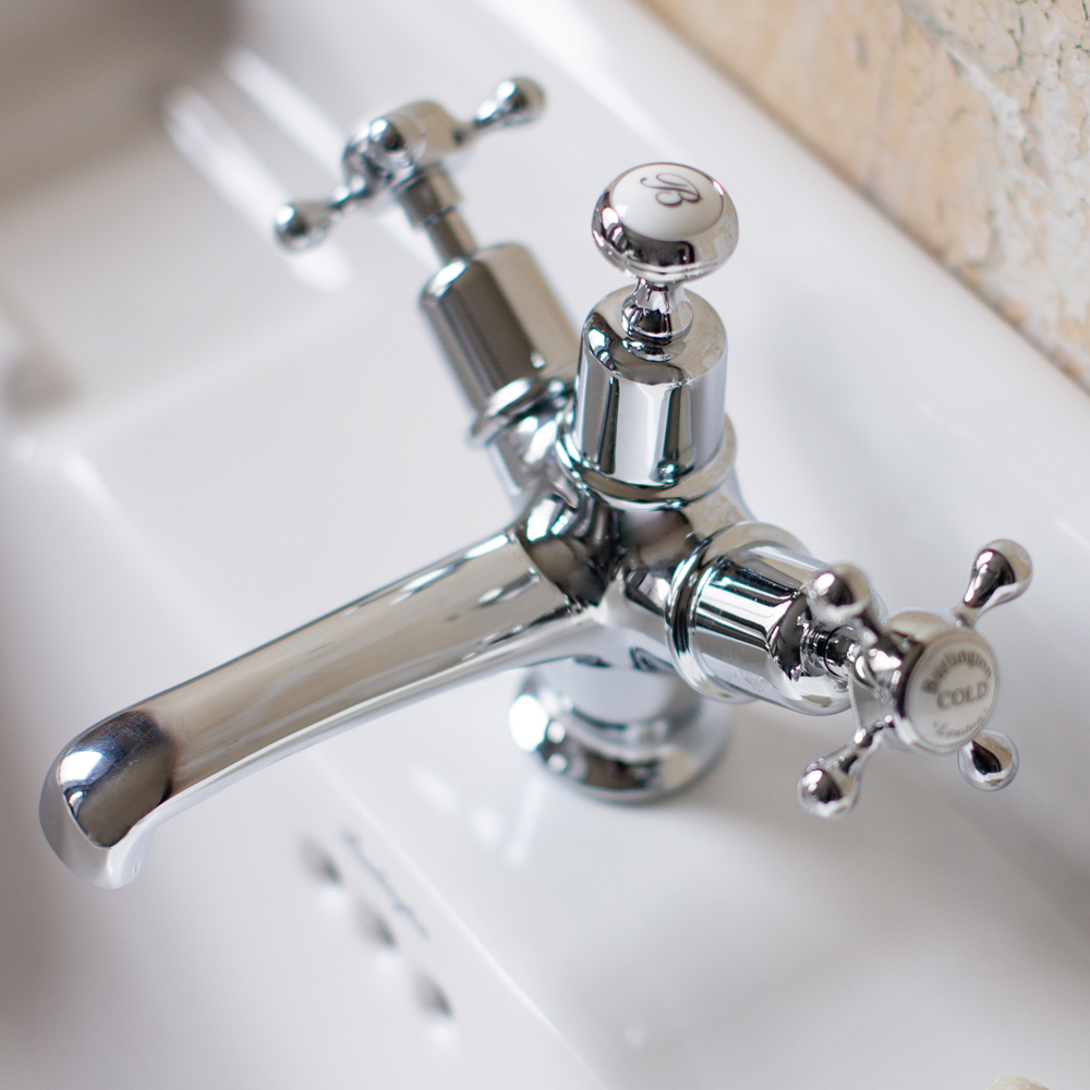 Burlington Claremont Basin Mixer Tap with Plug & Chain Waste - CL5 profile large image view 3