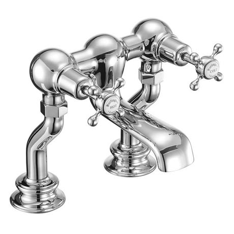 Burlington Claremont Regent - Chrome Deck Mounted Bath Filler - CLR23
