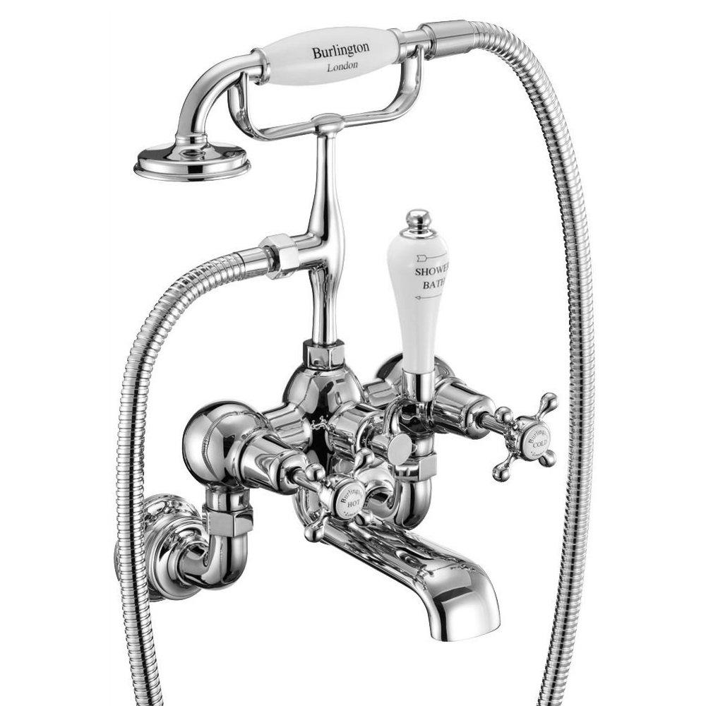 Burlington Claremont Regent - Wall Mounted Bath/Shower Mixer - CLR17 Feature Large Image