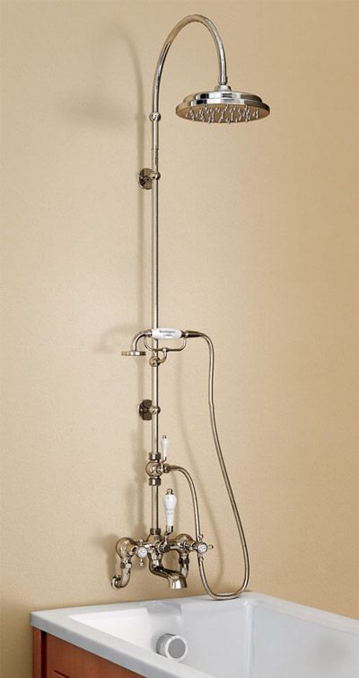 Burlington Claremont Wall Mounted Bath Shower Mixer W