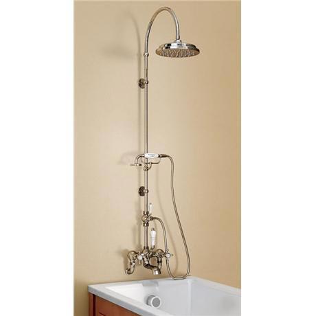 Burlington claremont wall mounted bath shower mixer w for Chatsworth bathroom faucet parts