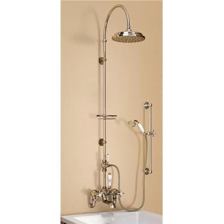 Burlington birkenhead wall mounted bath shower mixer w for Chatsworth bathroom faucet parts